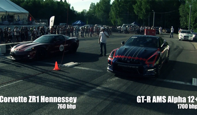 Video Nissan Gt R Alpha 12 By Ams Hits 382km H In 1 Mile