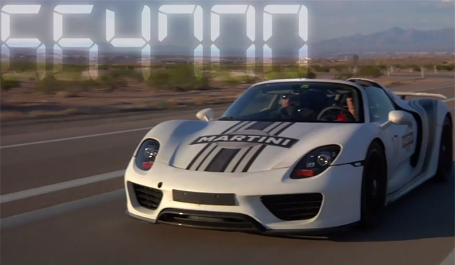 Video: 2014 Porsche 918 Spyder Hot Weather Testing Near Las Vegas