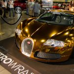 Flo Rida Wraps his Bugatti Veyron in Gold Chrome Finish