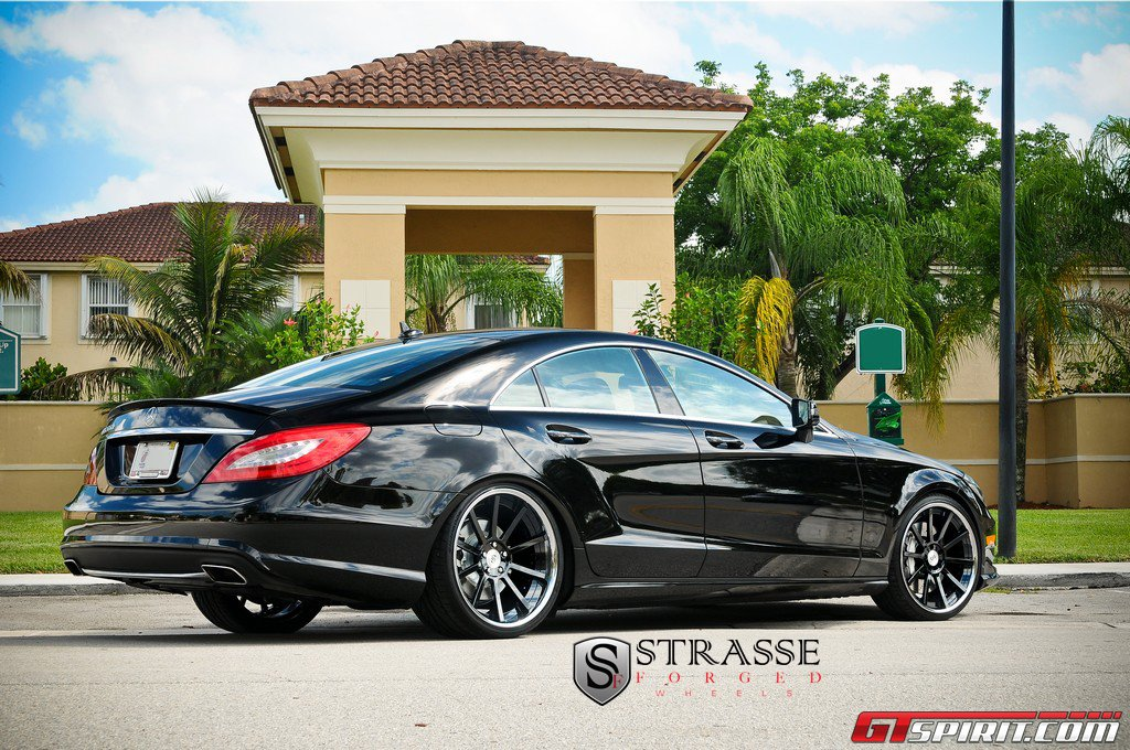 Black Mercedes Benz Cls 550 With Strasse Forged Wheels