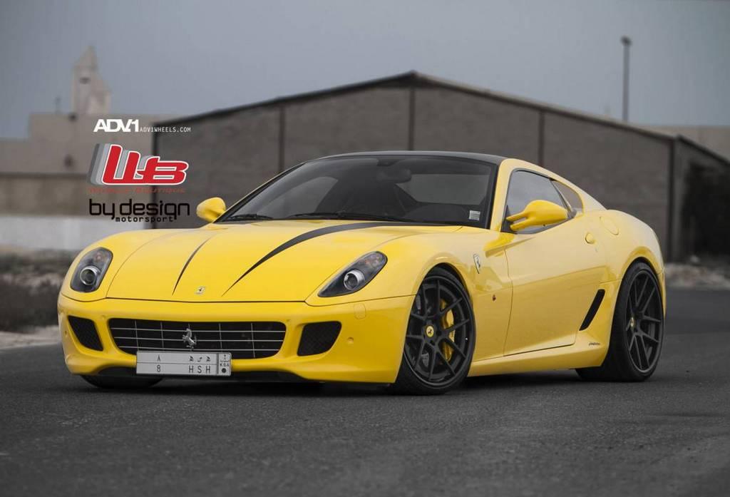 Gallery Yellow Ferrari 599 Gtb On Adv 1 Wheels Gtspirit