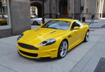 For Sale: Unique Yellow Aston Martin DBS