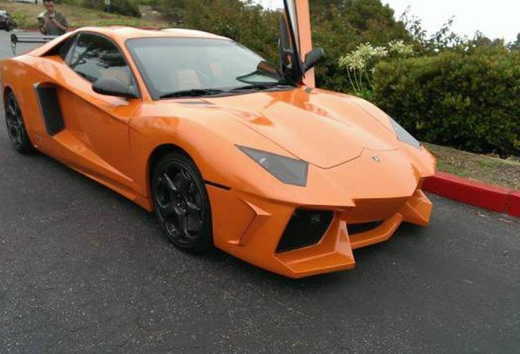 Overkill Orange Lamborghini Aventador Replica Spotted In The U S