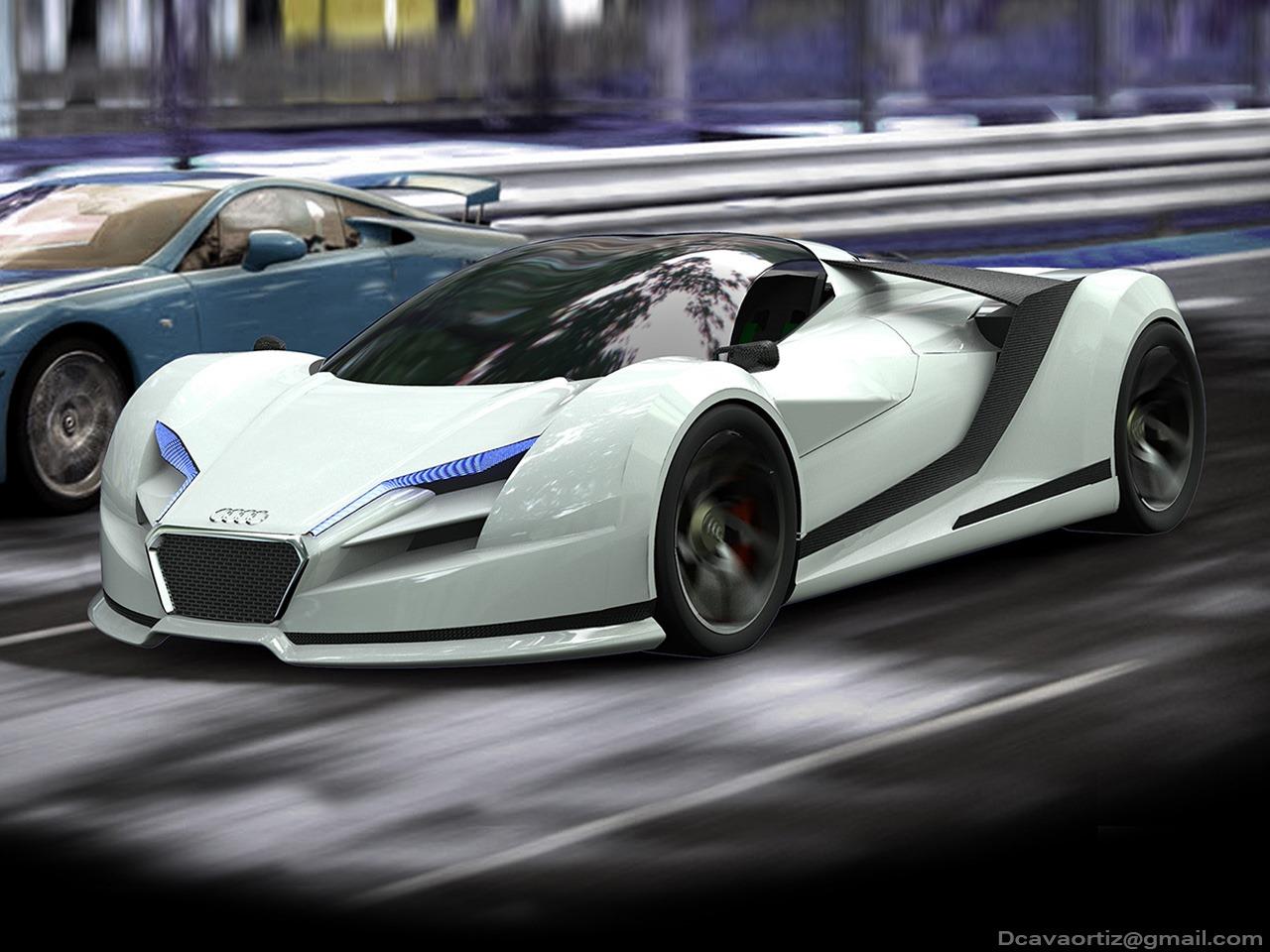 Render Audi R Concept By David Cava GTspirit - Audi a10