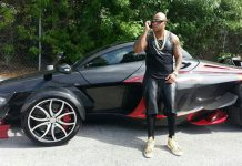 Flo Rida Poses With Tramontana XTR Supercar