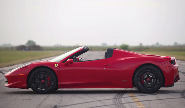 Video: Ferrari 458 Italia Twin-Turbo by Hennessey Performance 0-150mph