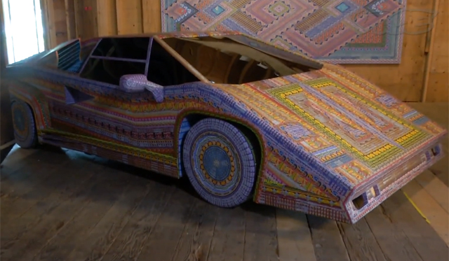 Video: Lamborghini Countach Made From Lottery Tickets