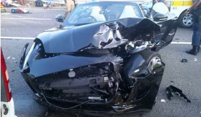 Jaguar F-Type Crashes Into Taxi and Injures 17 People in South Africa