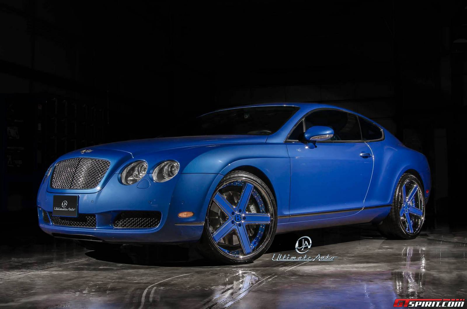Azure Blue Bentley Continental Gt By Ultimate Auto Gtspirit