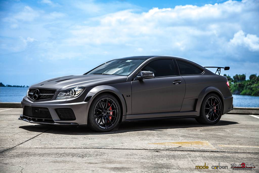 stunning mercedes benz c63 amg black series trio by mode carbon gtspirit. Black Bedroom Furniture Sets. Home Design Ideas