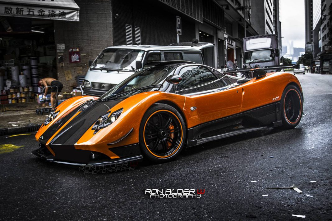 Orange Pagani Zonda Cinque in Hong Kong