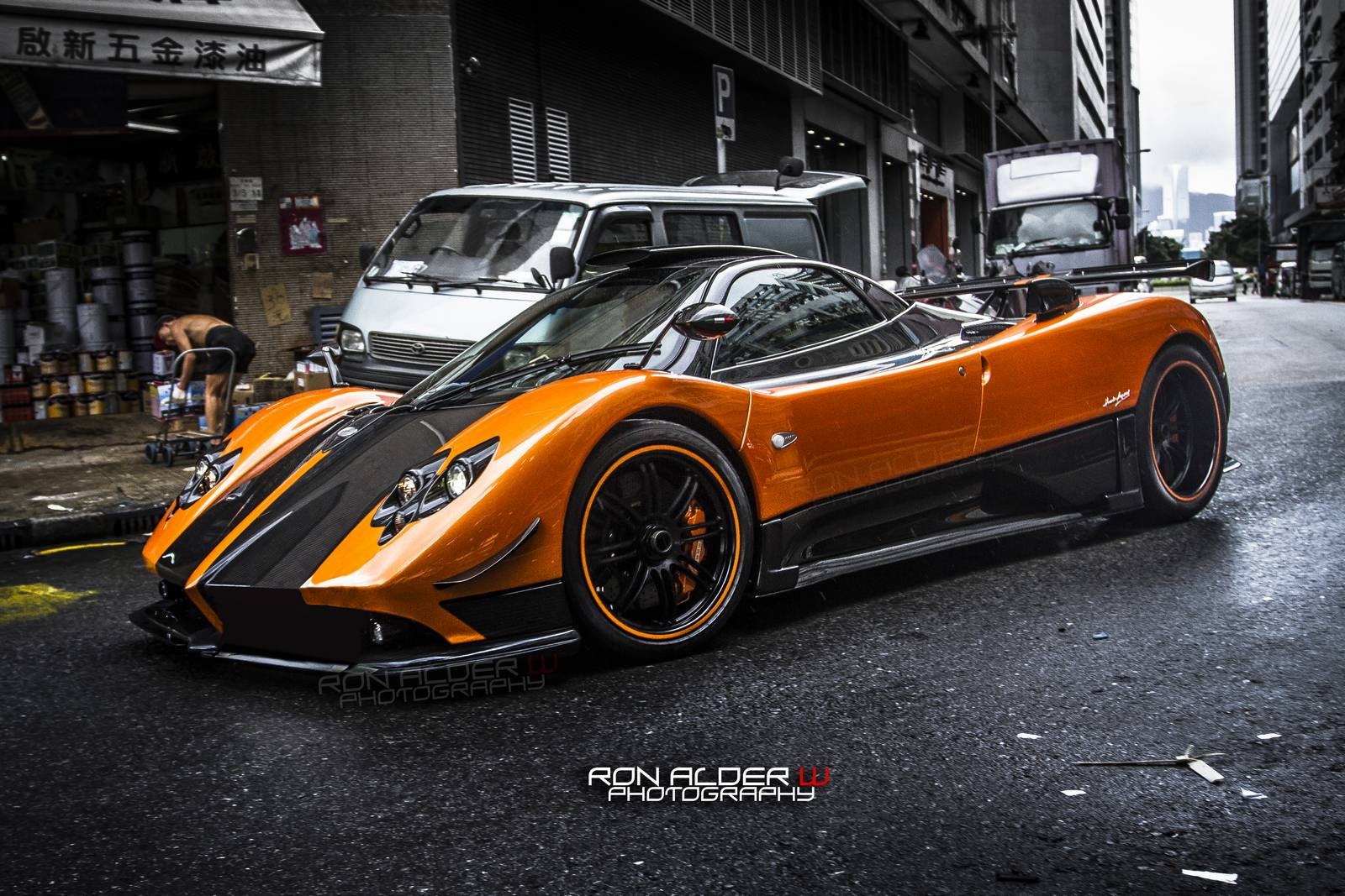 Orange Pagani Zonda Cinque in Hong Kong - GTspirit