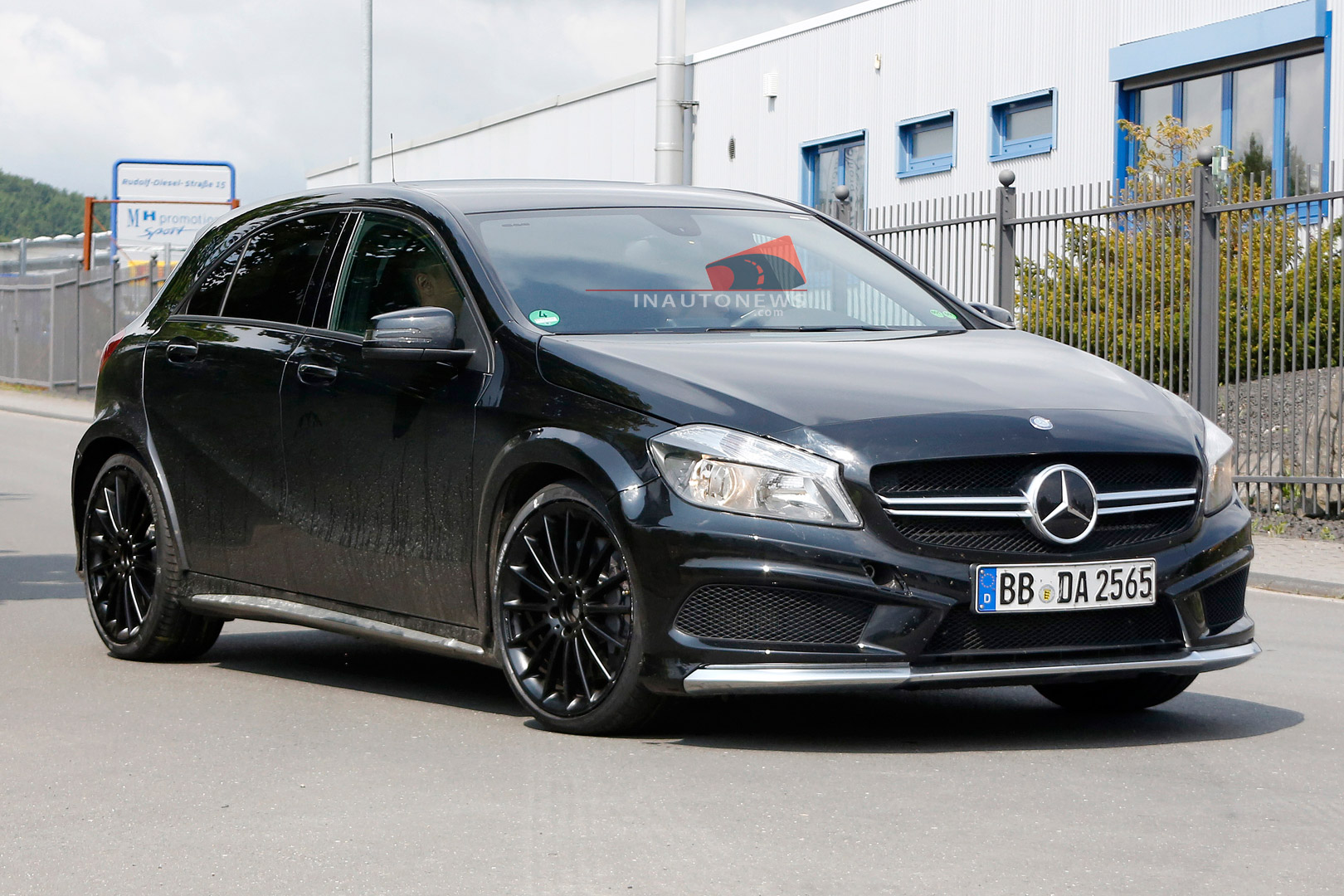 spyshots mercedes benz a45 amg black series spotted at