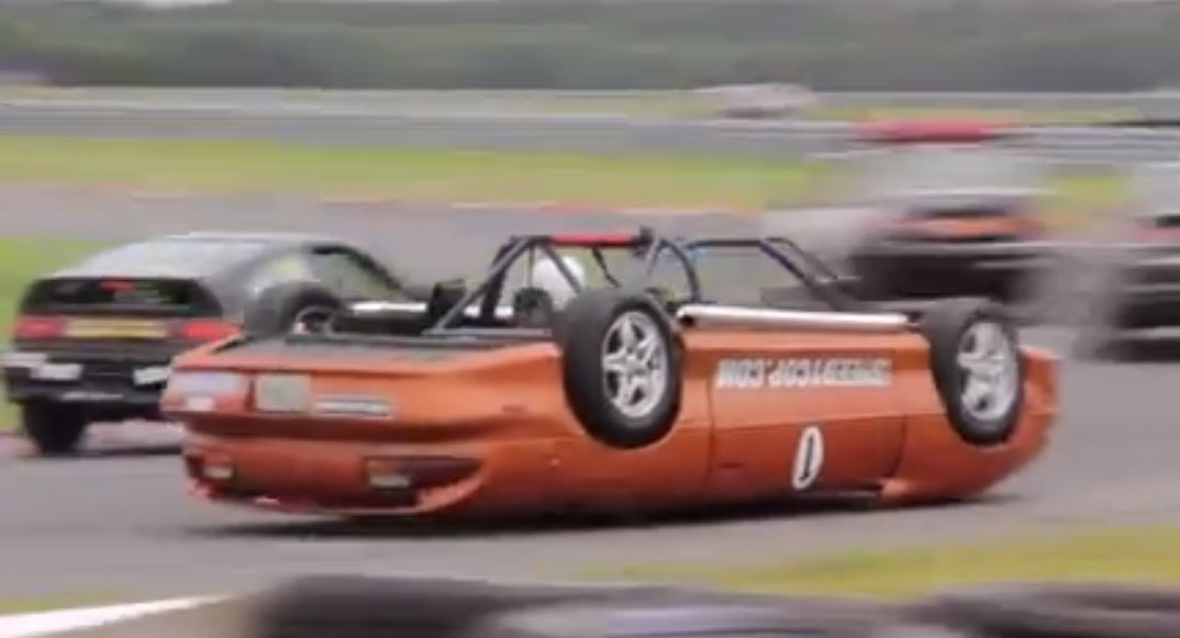 Video: Upside Down Race Car Competes in LeMons Race
