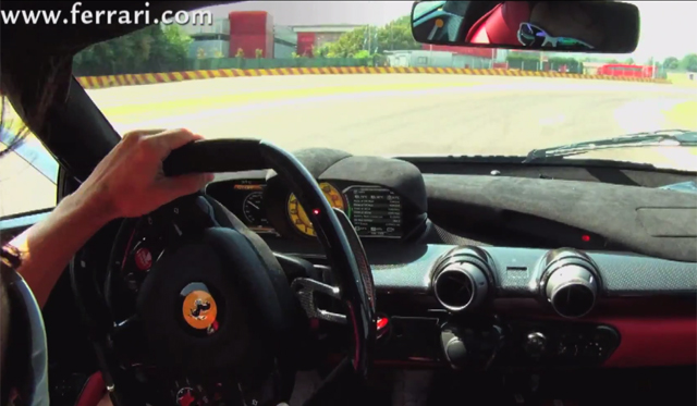 Video: Fernando Alonso Drives LaFerrari at Fiorano