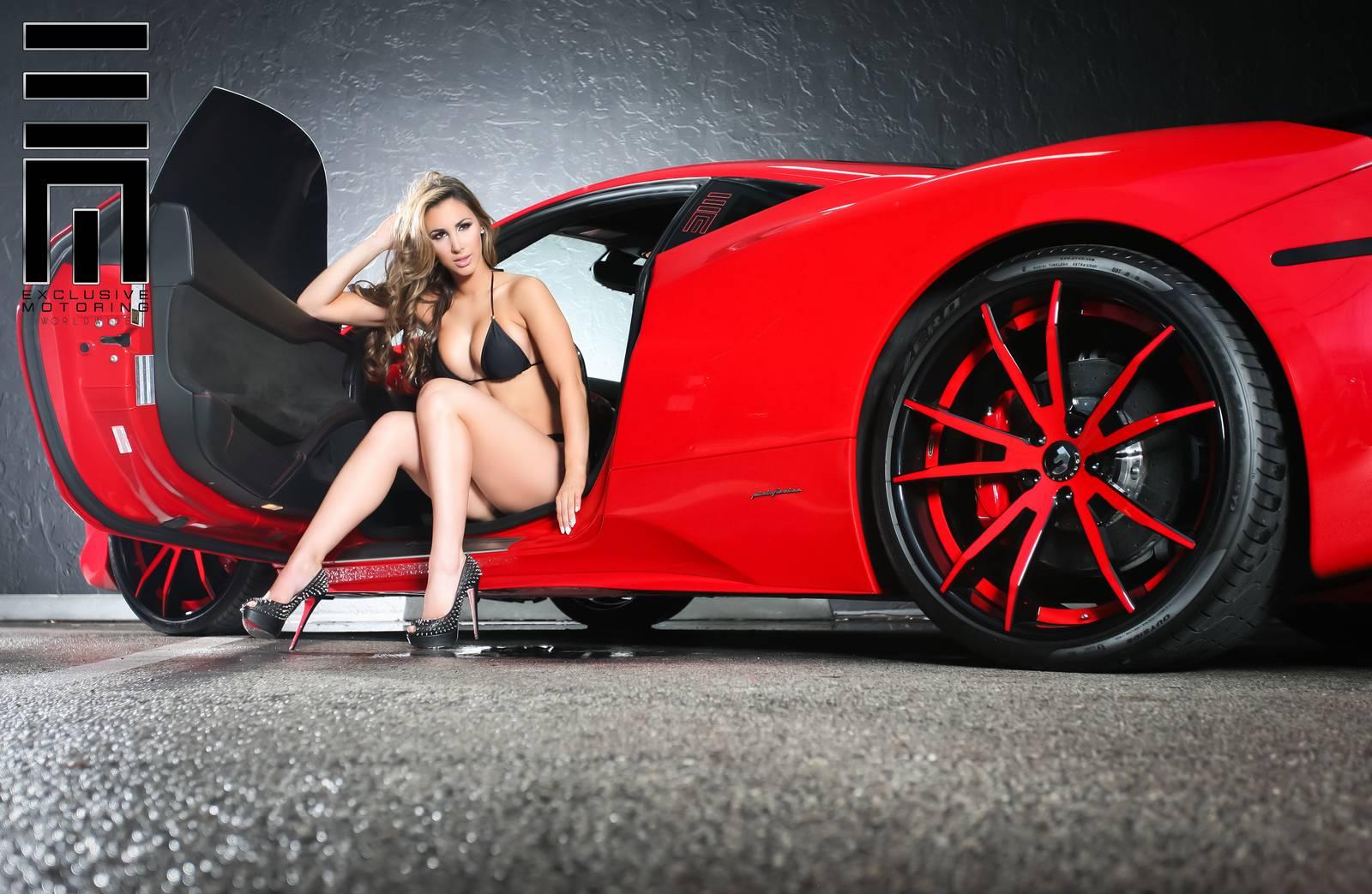 Exclusive Motoring Ferrari 458 Italia With Model Gaby