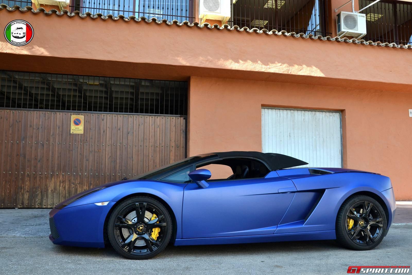 Matte Blue Lamborghini Gallardo Spyder By Cayuela Photography Gtspirit