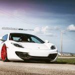White McLaren 12C Meets Red ADV.1 Wheels