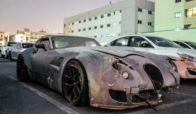 Wiesmann GT MF5 Wreck Spotted in Dubai - GTspirit