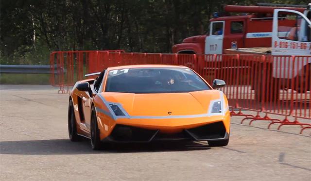 2005hp Lamborghini Gallardo Tt Catches Fire In Russia Gtspirit