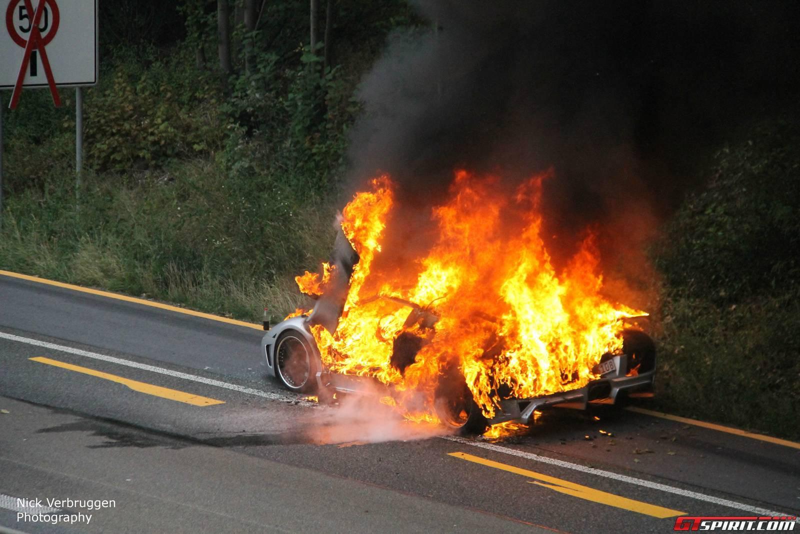 Lamborghini Murcielago Reduced To Ashes In Less Than 15