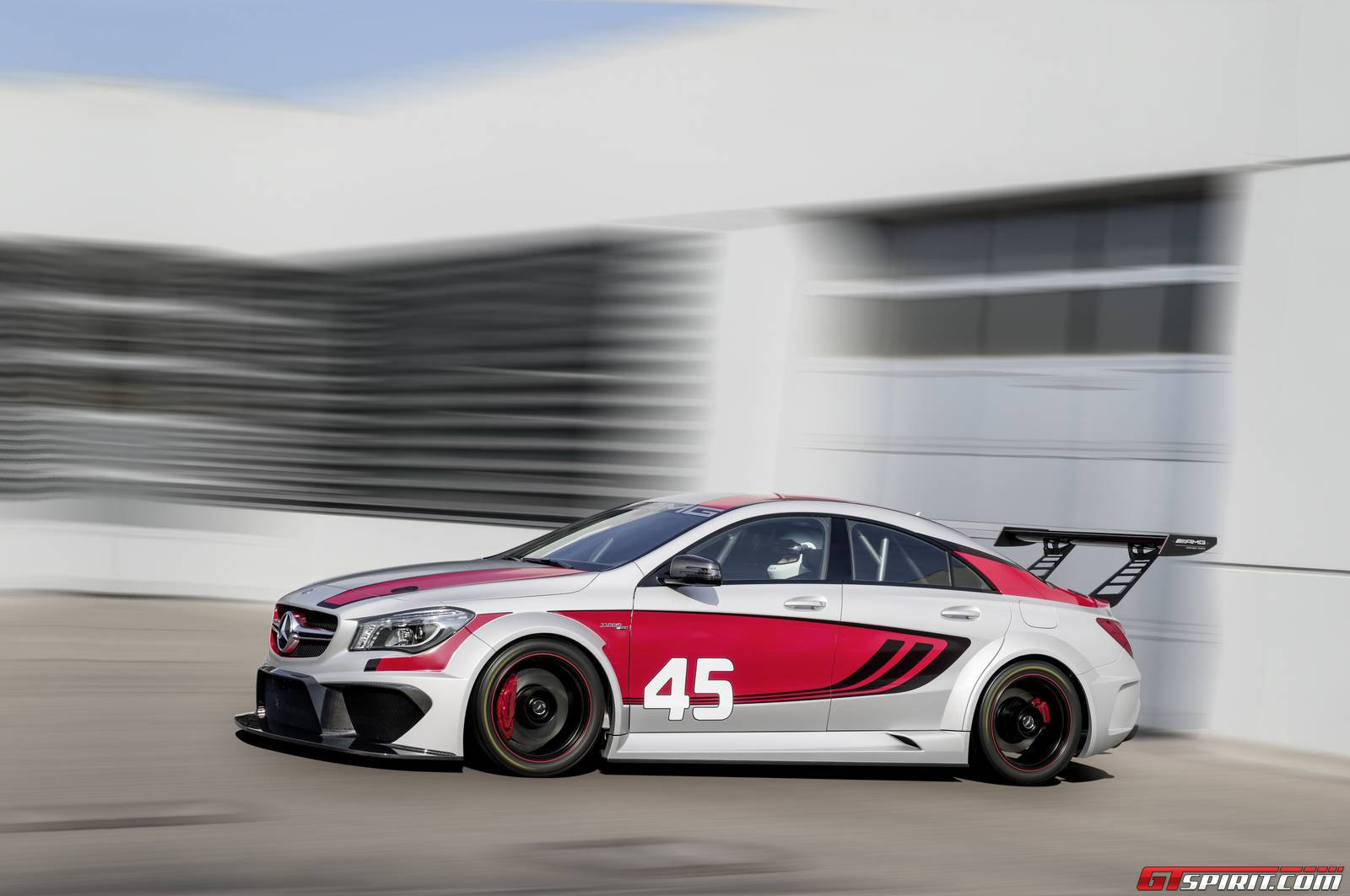 official mercedes benz cla 45 amg racing series concept car gtspirit. Black Bedroom Furniture Sets. Home Design Ideas