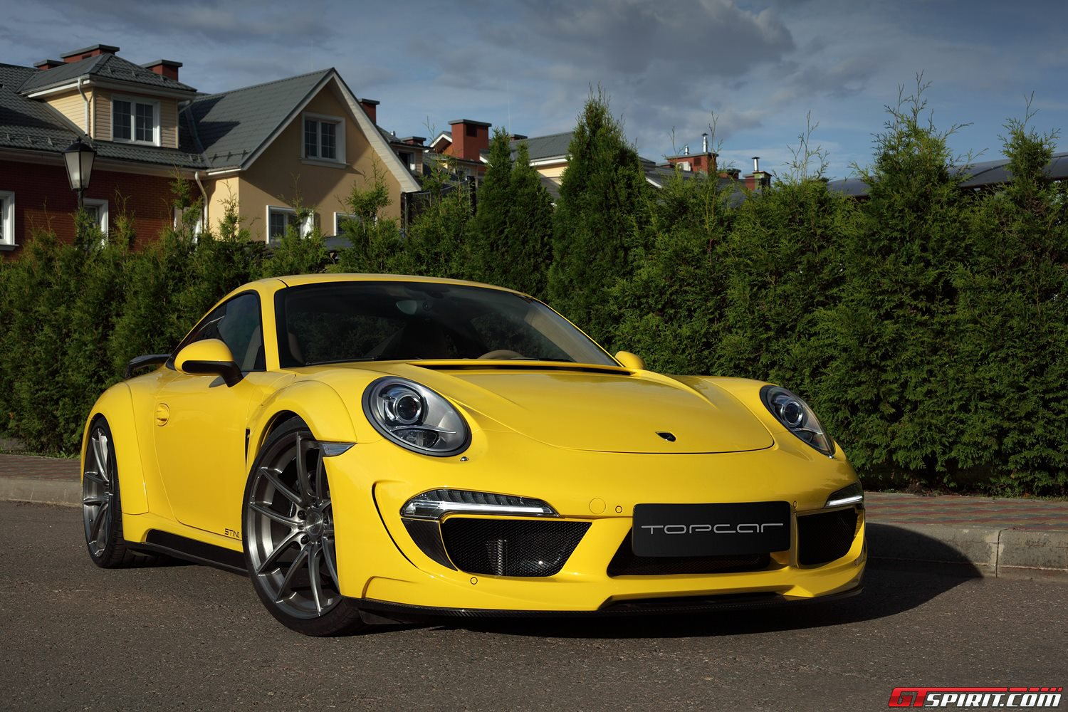 yellow porsche 991 carrera stinger by topcar gtspirit. Black Bedroom Furniture Sets. Home Design Ideas