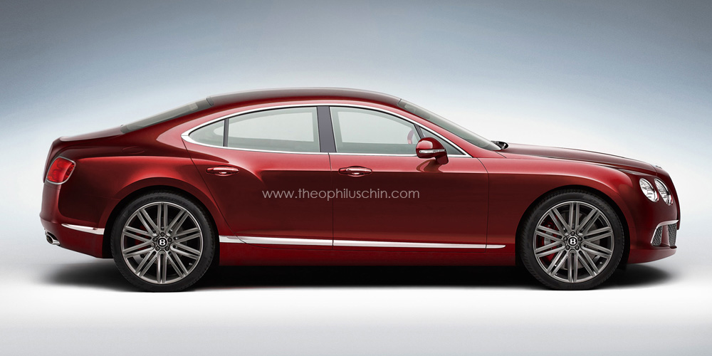 Four Door Bentley Continental Coupe Rendered