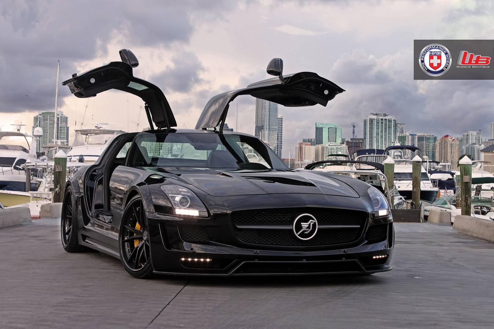 Hamann hawk mercedes benz sls amg on hre wheels gtspirit for Mercedes benz hamann