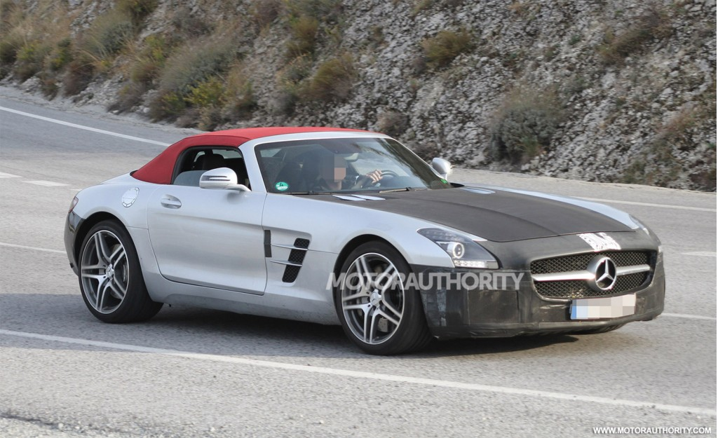 2015 mercedes benz sls amg roadster facelift spotted for 2015 mercedes benz sls amg