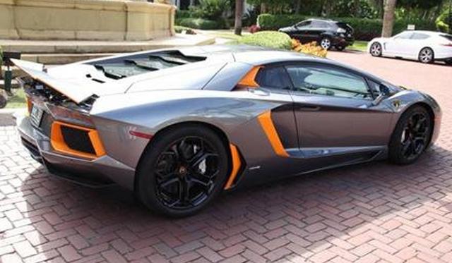 Unique Orange And Silver Lamborghini Aventador Could Be Yours For