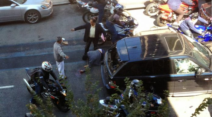 Shocking Images Emerge of Bikers Bashing Range Rover Driver