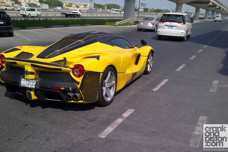 yellow 2014 laferrari spotted in dubai - Ferrari 2014 Yellow