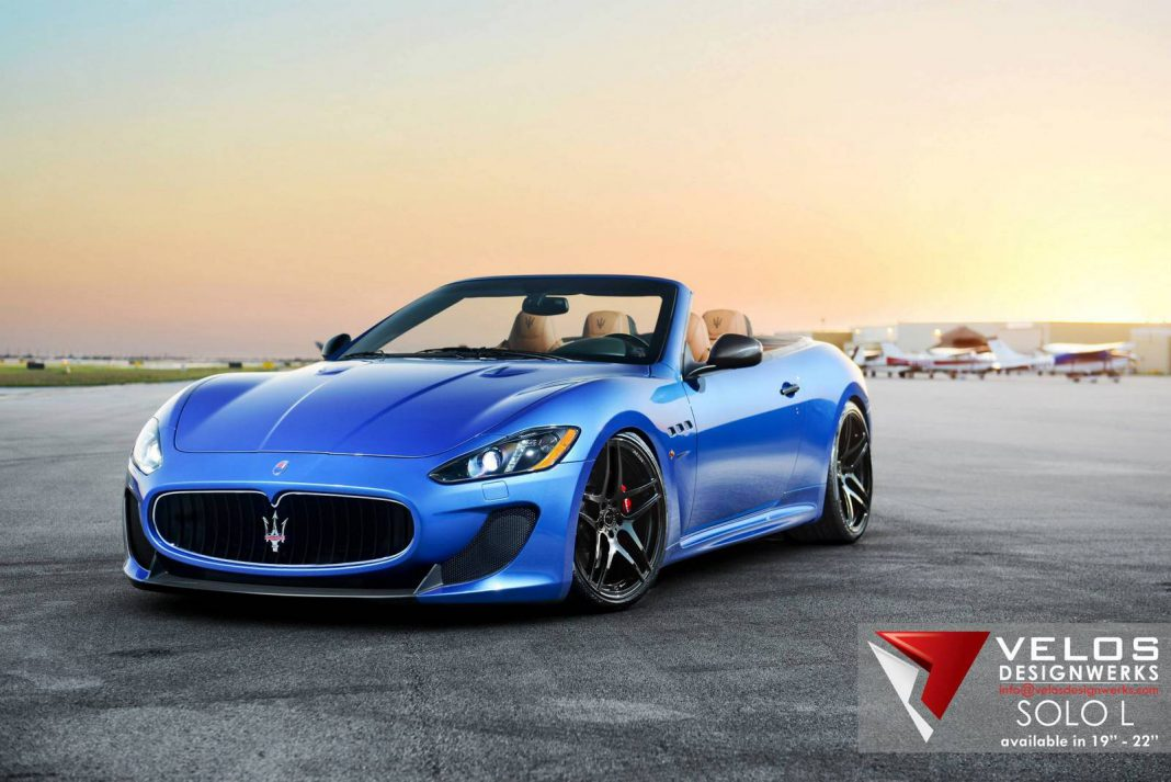 blue maserati grancabrio mc by velos designwerks gtspirit. Black Bedroom Furniture Sets. Home Design Ideas