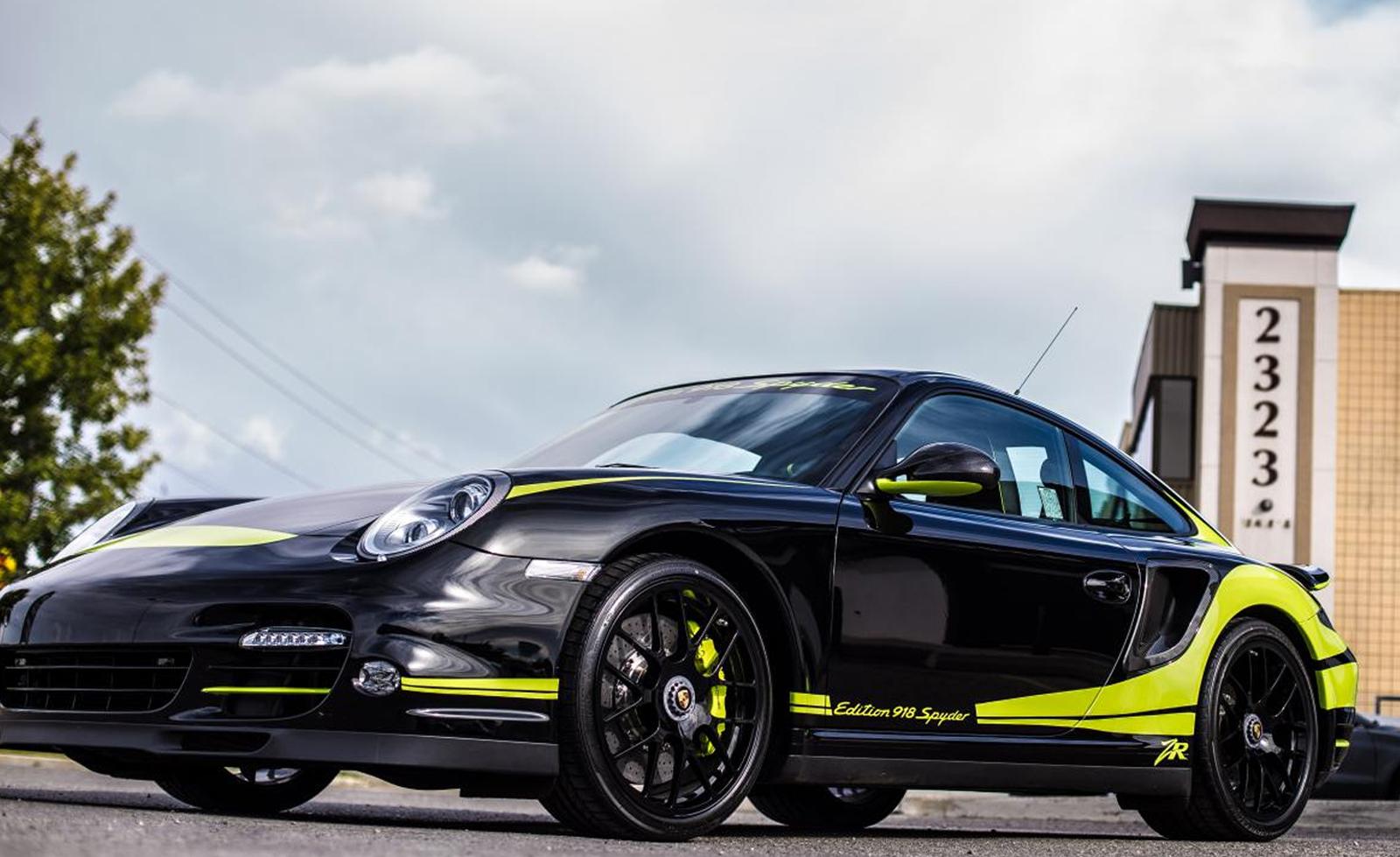 porsche 911 turbo s edition 918 spyder by zr auto gtspirit. Black Bedroom Furniture Sets. Home Design Ideas