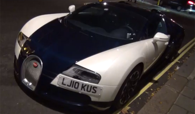 One-Off Bugatti Veyron Royal Dark Blue Spotted Driving