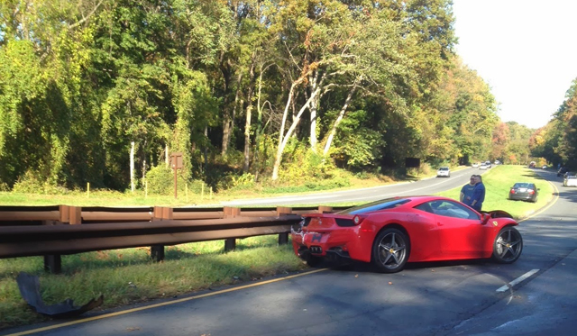 Ferrari 458 Italia Crashes In Washington DC - GTspirit