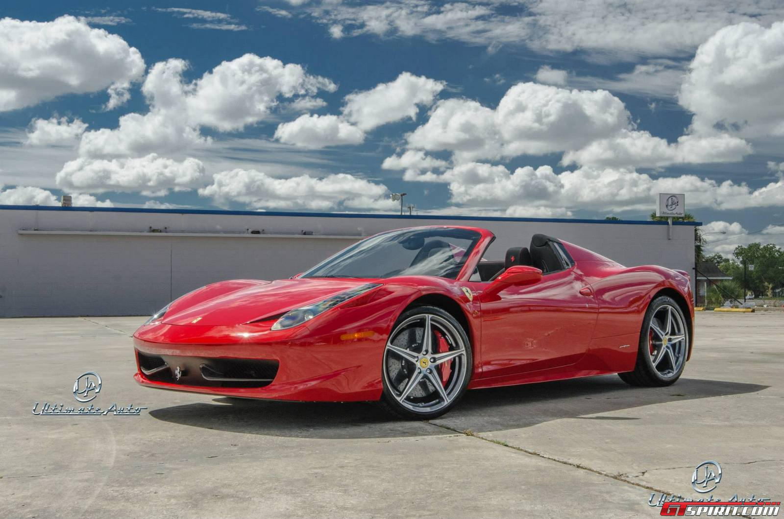 red ferrari 458 spyder by ultimate auto gtspirit. Black Bedroom Furniture Sets. Home Design Ideas