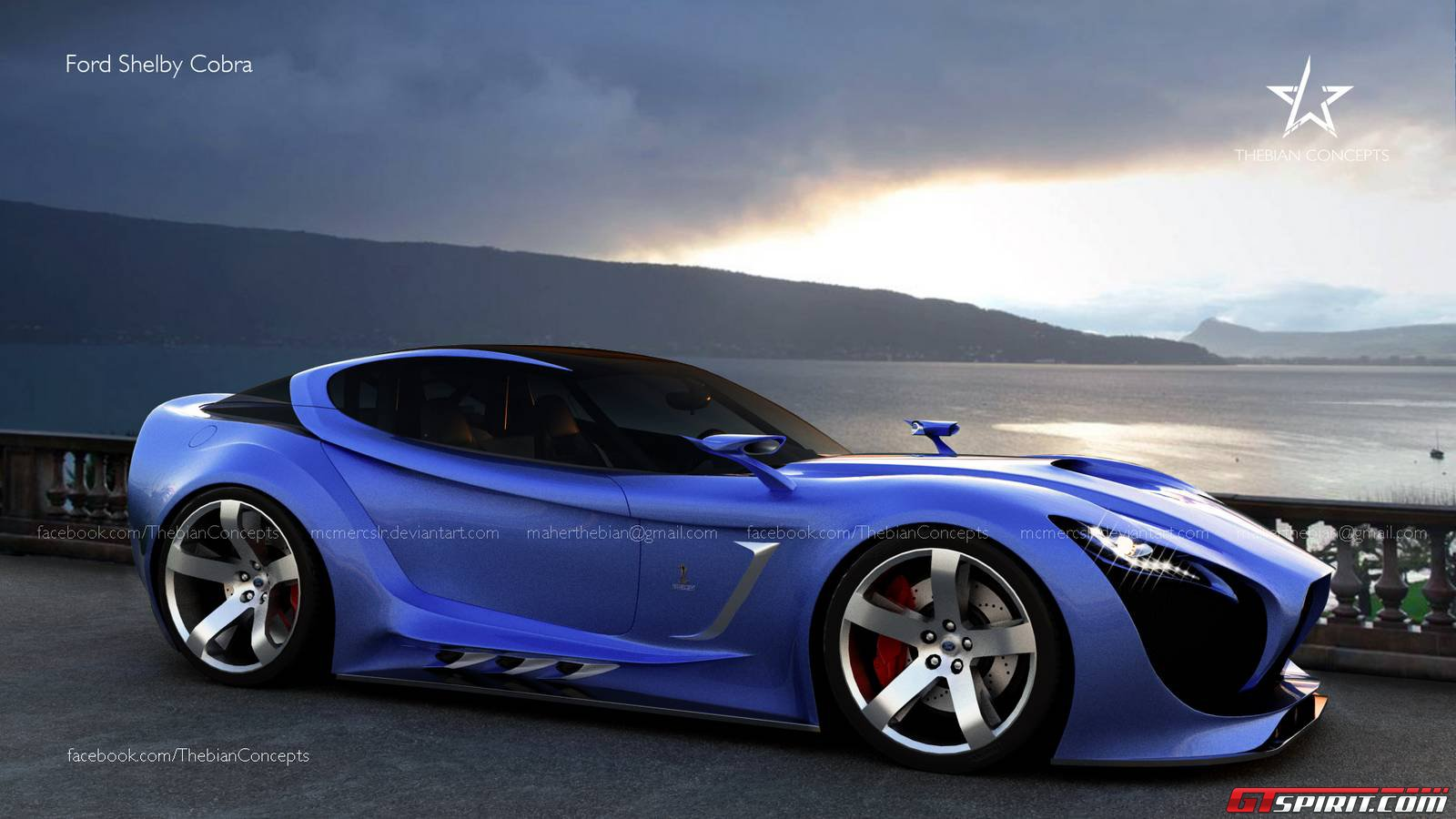Futuristic Ford Shelby Cobra Visualized By Thebian