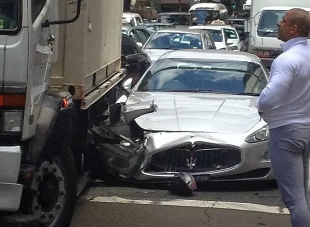 2018 maserati truck. beautiful maserati truck hits silver maserati granturismo in sydney throughout 2018 maserati truck