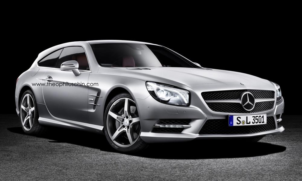Mercedes Benz Sl Shooting Brake Imagined