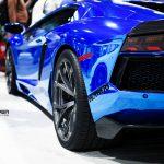 SEMA 2013: Chrome Blue Lamborghini Aventador on PUR Wheels