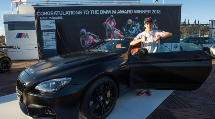 2013 MotoGP Champion Marc Marquez Awarded BMW M6 Coupe