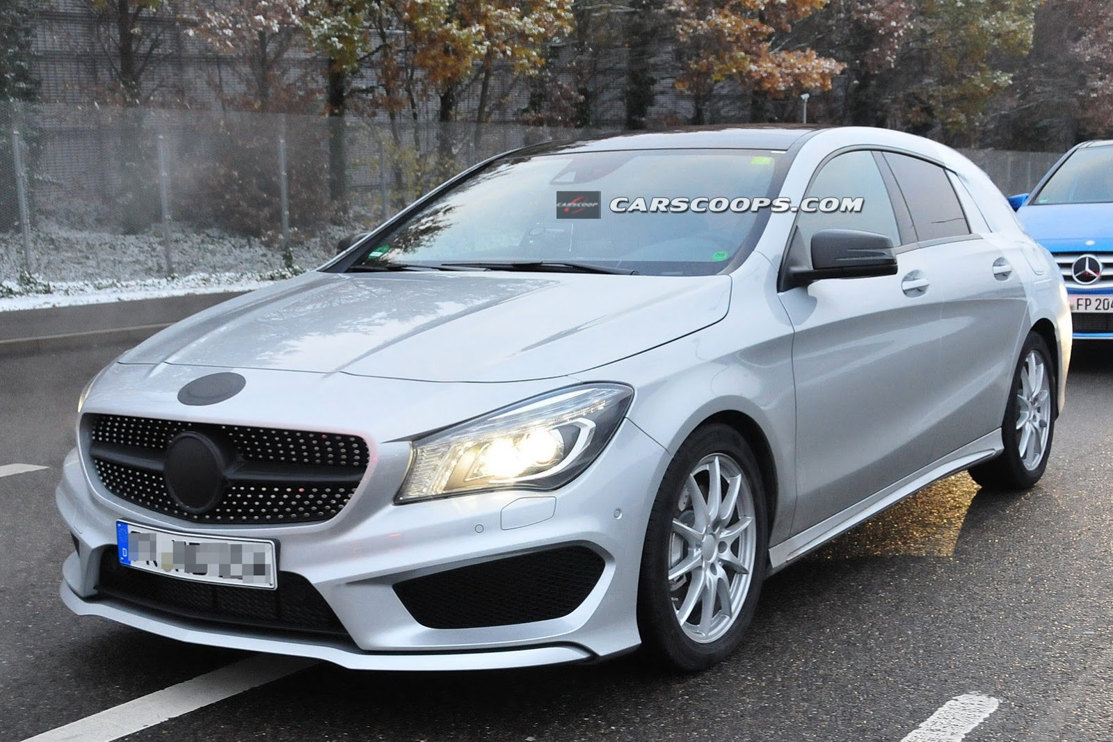 2015 mercedes benz cla shooting brake spied up close gtspirit. Black Bedroom Furniture Sets. Home Design Ideas