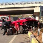 Ferrari California Crashed by Footballer Artem Milevskiy