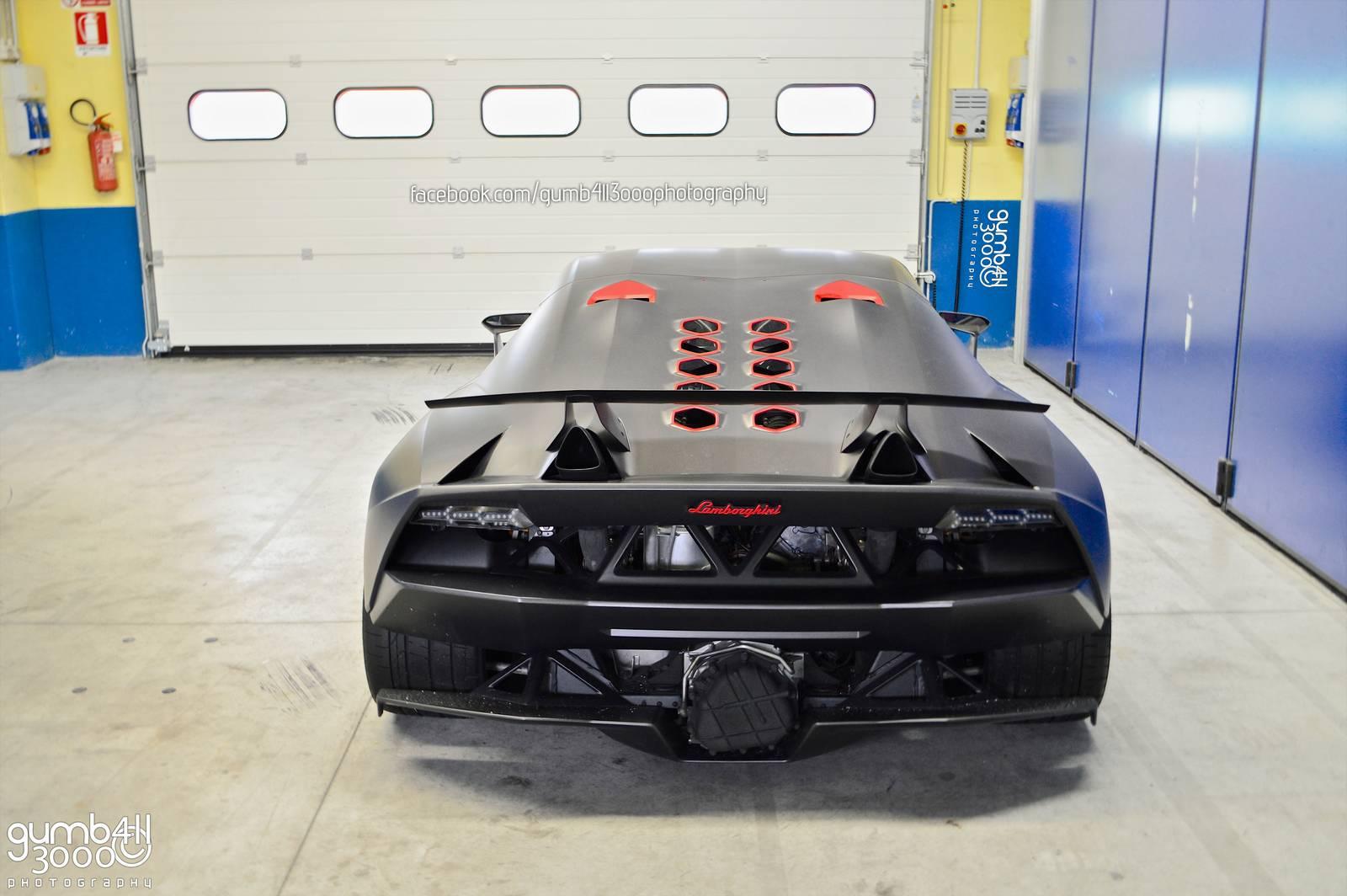 Lamborghini Sesto Elemento In Vallelunga Circuit Garage Gtspirit