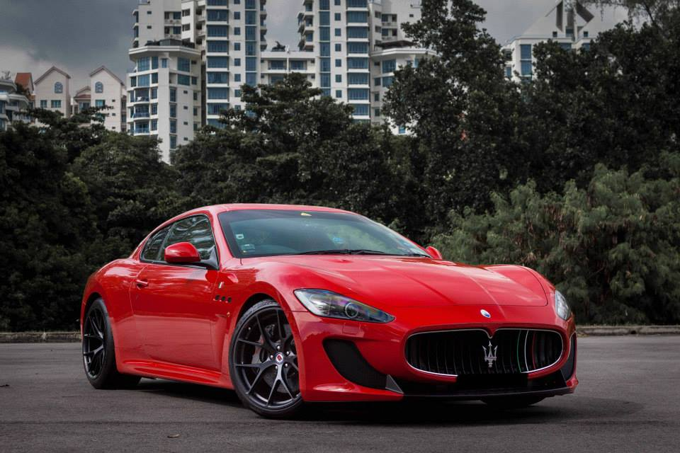 red maserati granturismo mc stradale lowered on hre wheels. Black Bedroom Furniture Sets. Home Design Ideas