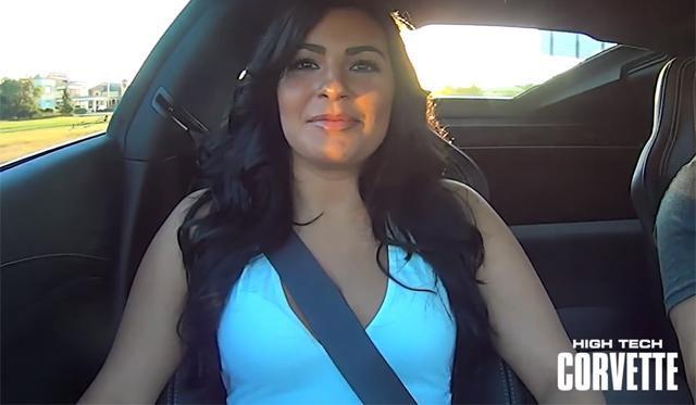 Hot Girl Rides in 2014 Chevrolet Corvette Stingray