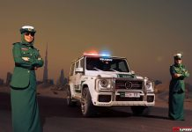 Dubai Police Edition Brabus B63S 700 Widestar