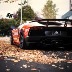 Lamborghini Aventador by SR Auto Group Amongst the Autumn Leaves